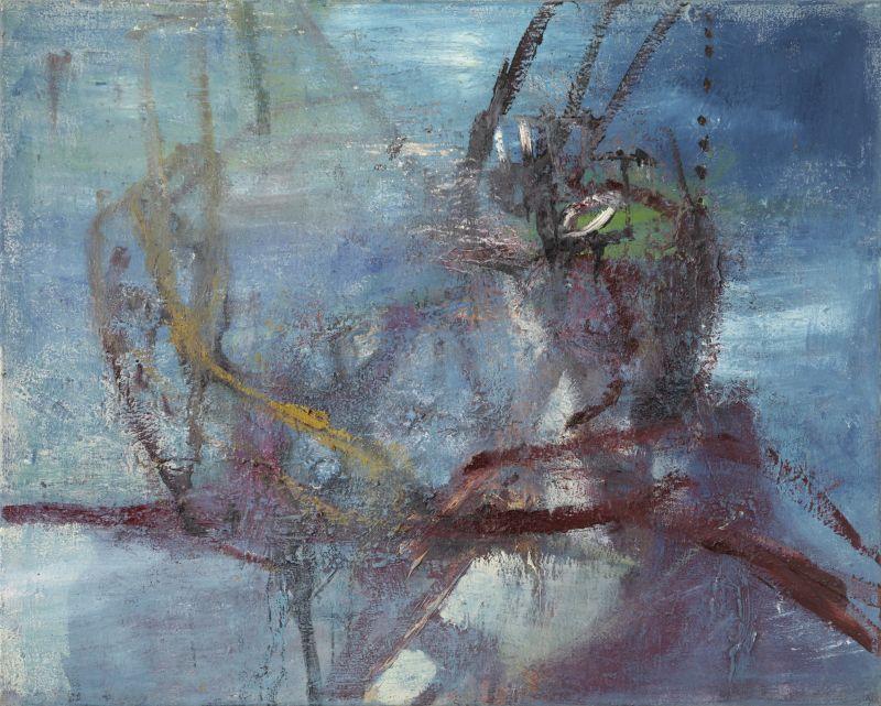 """Hans Brosch """"Puppenspieler"""", Öl auf Leinwand, 2006"""