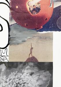Klaus Killisch - Im Zeitstrom verschollen, 2011, Collage (Detail)