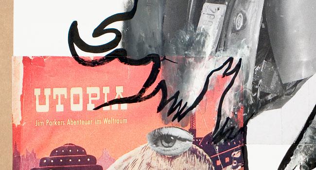 Klaus Killisch, Im Zeitstrom verschollen, 2011 Collage (Detail)