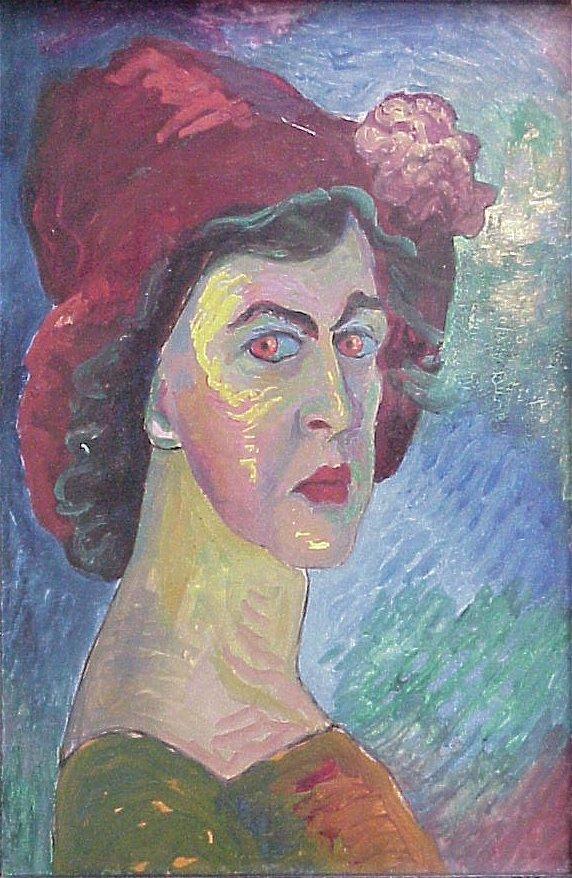 Marianne Werefkin, Selbstbildnis, um 1910-1
