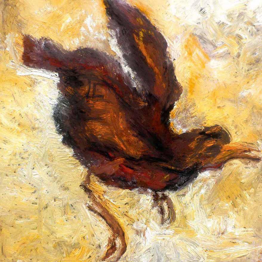Antje Neppach, Vogel, Öl auf Leinwand, 2012
