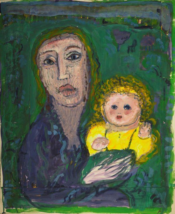 Annemirl Bauer, ohne Titel, ohne Jahr, Gouache auf Karton, 70,4 x 57,5 cm © VG Bild-Kunst, Bonn 2015