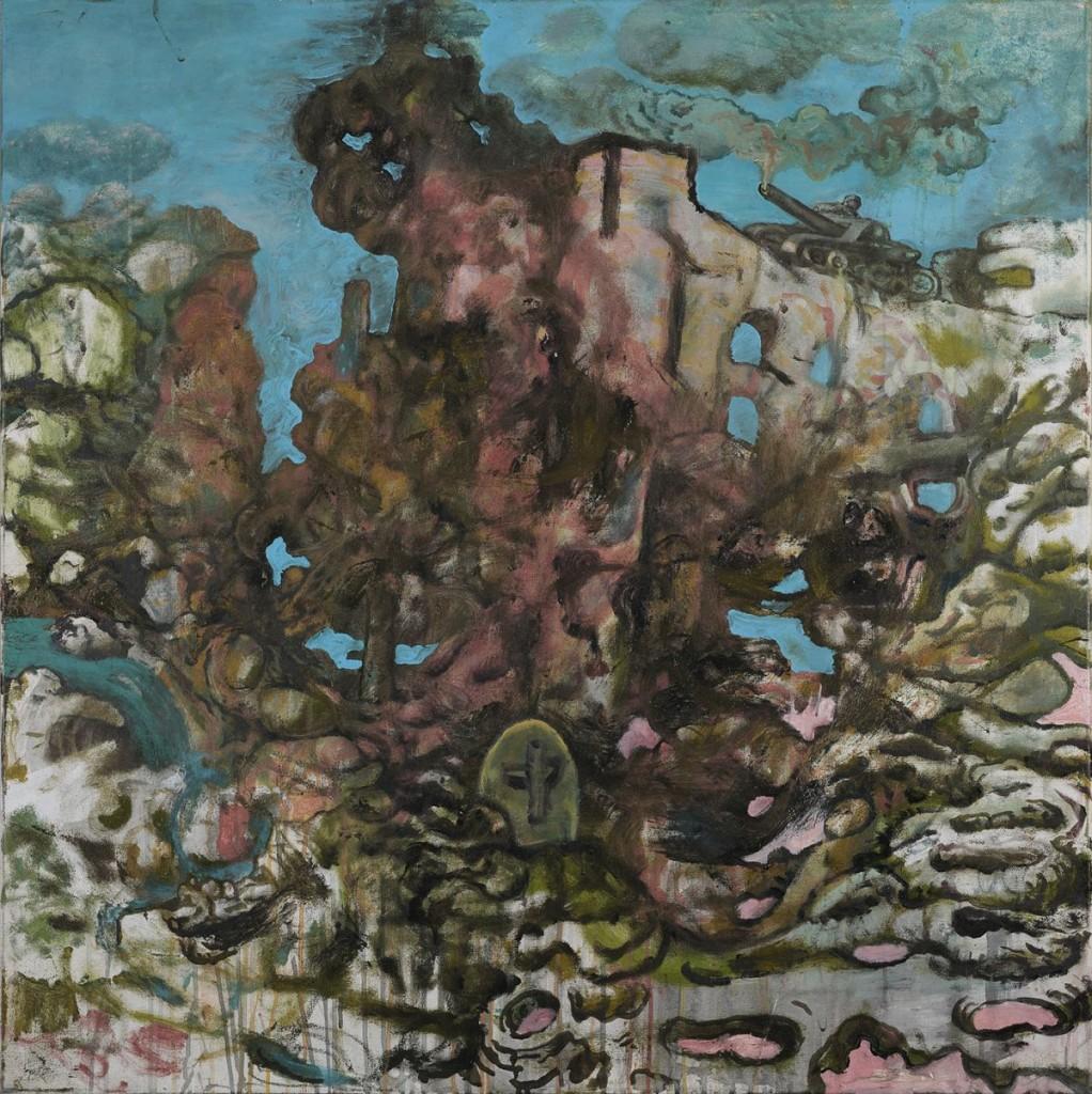 """""""DER BOVIST AM RANDE DER STADT II"""", 2015, Öl auf Leinwand"""