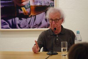 Dieter Schnebel in der Galerie Pankow 2016