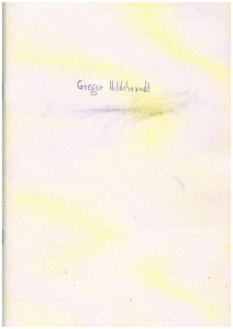 Umschlag des Katalogs von Gregor Hildebrandt