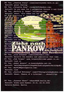 """Umschlag """"Ziehe nach Pankow"""" zur Ausstellung Susanne Ahner"""