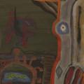 "Roger David Servais ""Stürzender Vogel"", 1972, Gouache auf Papier, 48 x 36 cm, VG-Bildkunst, Bonn 2016, Foto Ludwig Rauch"