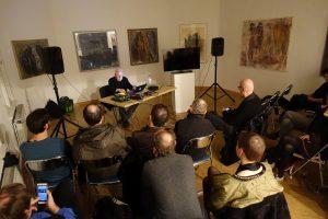 Arnold Dreyblatts Vortrag in der Galerie Pankow